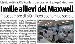 I mille allievi del Maxwell